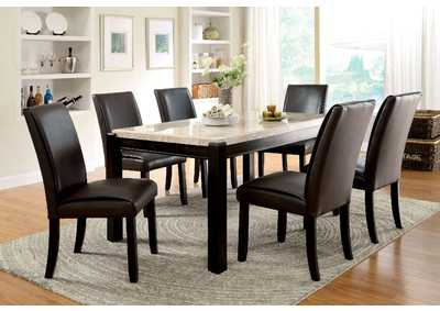Gladstone l Marble Top Dining Table w/4 Side Chairs
