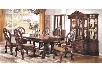 "Image for Tuscany l Antique Cherry Pedestal Dining Table w/2 20"" Leaves"