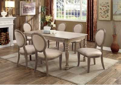 Siobhan Rustic Oak Rectangular Dining Table