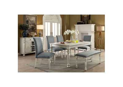 Siobhan II Antique White Dining Table