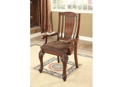 Image for Johannesburg I Brown Cherry Arm Chair (Set of 2)