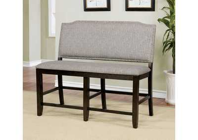 Teagan Dark Walnut Counter Height Bench