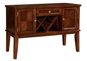 Hillsview I Brown Cherry Server