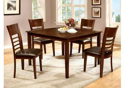 Hillsview I Brown Cherry 5 PC. Dining Table Set