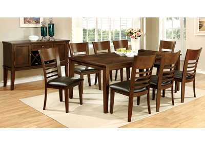 "Image for Hillsview I Brown Cherry 78"" Extension Leaf Dining Table w/8 Side Chairs"