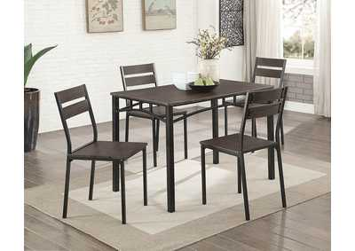 Westport Antique Brown/Black 5 PC. Dining Table Set