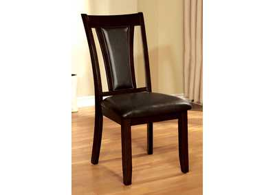 Brent Cherry & Brown Side Chair (Set of 2)