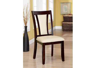 Brent Cherry & Ivory Side Chair (Set of 2)