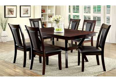 Brent Faux Marble Insert Top Dining Table w/4 Side Chairs
