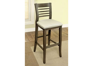 Dwight II Gray Ladder-Back Bar Chairs (Set of 2)