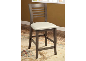 Dwight II Gray Ladder-Back Counter Height Chair (Set of 2)