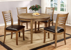 "Dwight 48"" Natural Tone Round Dining Table"