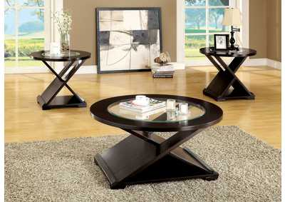 Image for Orbe 3 Piece Espresso 3 Piece Occasional Table Set