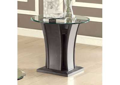 Image for Manhattan IV Gray End Table w/Open Shelf