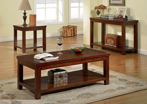 Image for Estell Dark Cherry Coffee Table w/Open Shelf