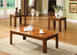 Town Square ll 3 Piece Oak Table Set (Coffee & 2 End Tables )