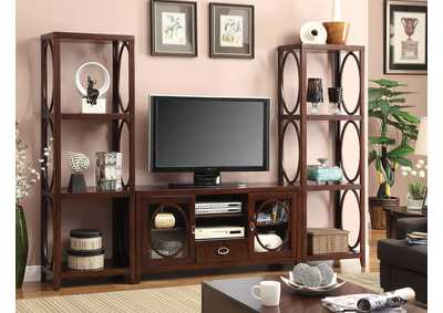 "Image for Melville 56"" Cherry TV Console w/2 Pier Cabinets"