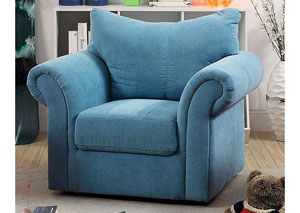 Irma Blue Curved-Back Kids Arm Chair