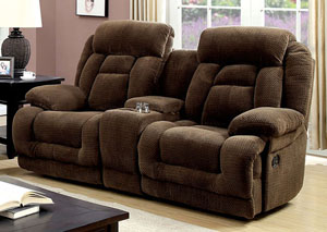 Image for Grenville Brown Reclining Loveseat w/Console