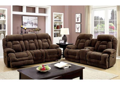 Image for Grenville Brown Power-Assist Reclining Loveseat w/Console