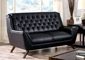 Leia Black Loveseat
