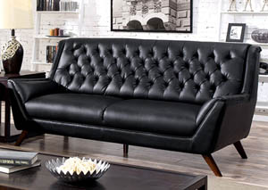 Leia Black Sofa and Loveseat