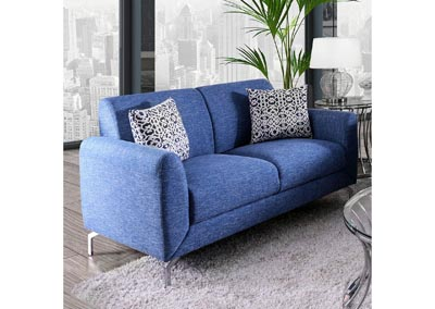 Lauritz Blue Loveseat