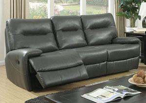 Binford Gray Sofa W/2 Recliners