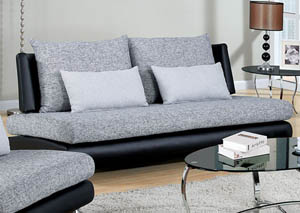 Saillon Gray and Black Sofa