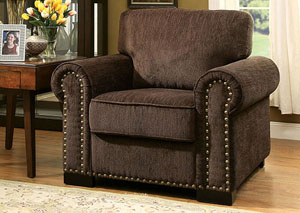 Rydel Brown Chenille Chair
