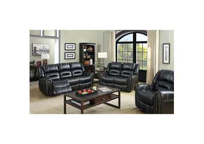 Frederick Black Sofa and Loveseat