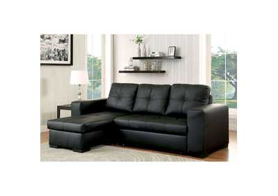 Denton Black Sectional