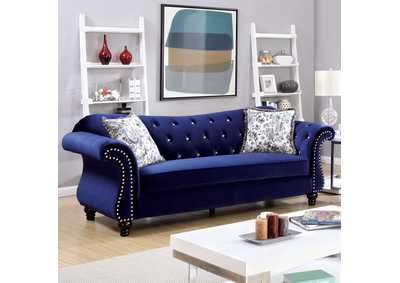Image for Jolanda Blue Curved-Back Sofa