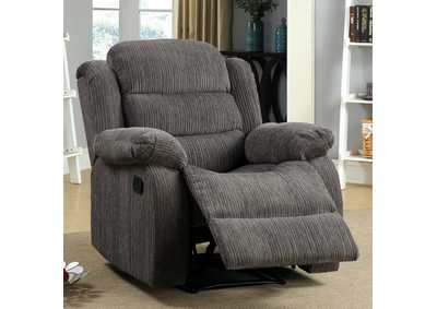 Image for Millville Gray Chenille Recliner
