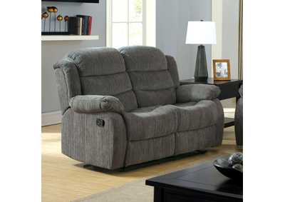 Millville Gray Chenille Motion Loveseat