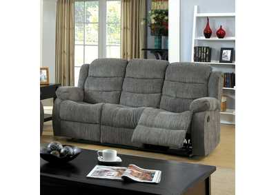 Millville Gray Chenille Motion Sofa