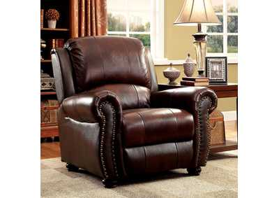 Turton Brown Leather Chair