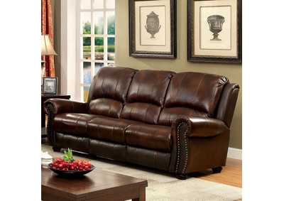 Turton Brown Leather Sofa