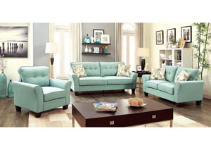 Claire Blue Sofa and Loveseat w/2 Pc Pillow