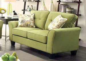 Claire Green Loveseat w/2 Pc Pillow