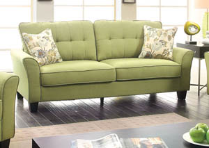 Claire Green Sofa w/2 Pc Pillow