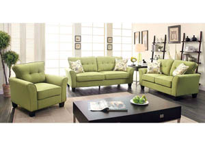 Claire Green Sofa and Loveseat