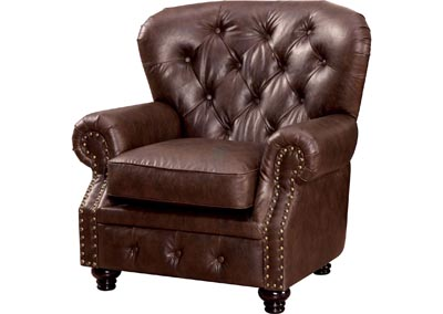 Stanford Brown Leatherette Single Chair