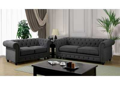 Stanford Gray Sofa and Loveseat