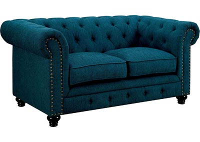 Stanford Dark Teal Loveseat