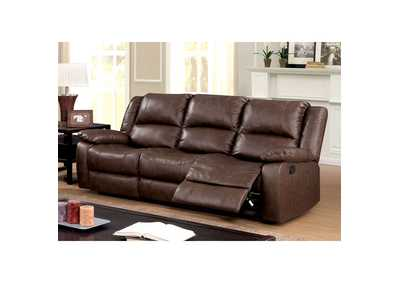 Kris Brown Sofa w/2 Recliners