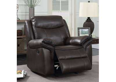 Chenai Brown Leather Gel Glider Recliner