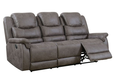Paula Gray Leatherette Reclining Sofa