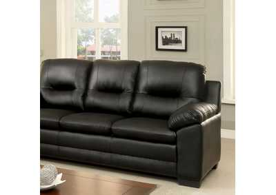 Image for Parma Black Sofa
