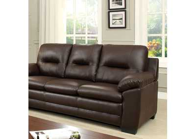 Parma Brown Polyurethane Sofa